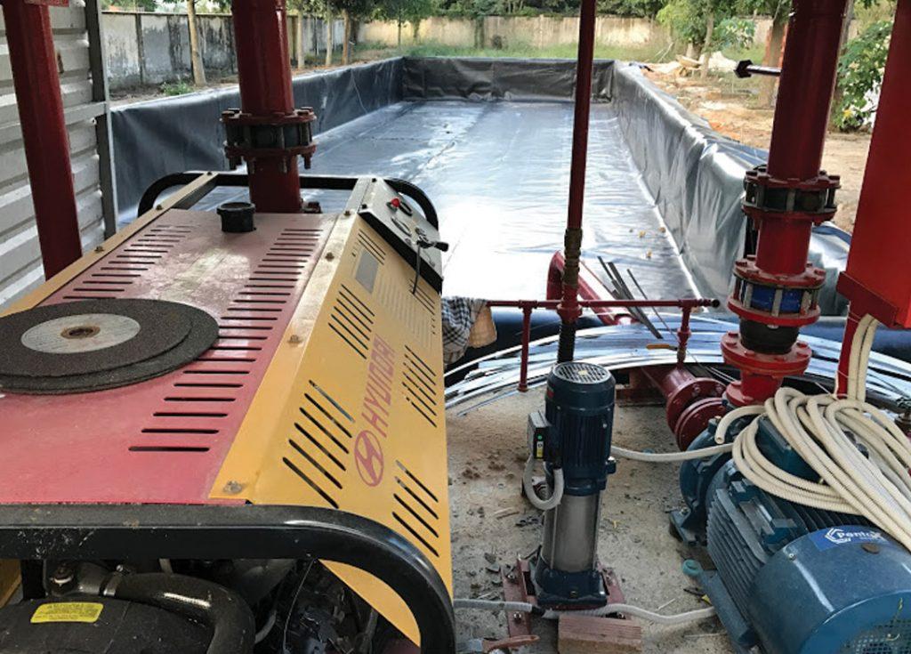 Thi công màng chống thấm cho hồ chứa nước công nghiệp